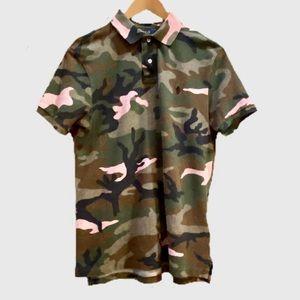 Ralph Lauren Polo Camouflage Print Custom Slim Fit